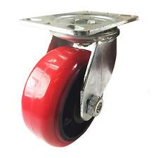 6 X 2 12 Heavy Duty Red Polyurethane On Cast Iron Caster Swivel