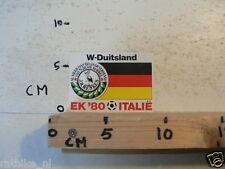 STICKER,DECAL EK 80 ITALIE VOETBAL,SOCCER JH HENKES,W-DUITSLAND, WEST GERMANY A