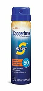 Coppertone SPORT Sunscreen Spray Broad Spectrum SPF 50 1.6 oz, Travel Size
