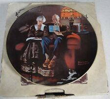 """Norman Rockwell """"Evening's Ease"""" Collector Plate W/ Box & Coa #Sfrm-3893"""
