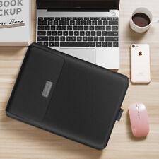 Ultra-thin waterproof folding pu macbook bag,black 13/14 inch universal