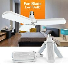 1PC E27 45W Deformable LED Garage Light Bulbs Workshop 3 Blade Lamp Bulb Fan