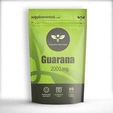 Guarana 2000mg Pastillas Energía y Fortaleza ✔Fabricado en Gb ✔ Buzón Amigable
