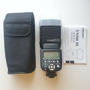 Yongnuo Speedlite YN 560 III Flash gun Photography w Case VGC
