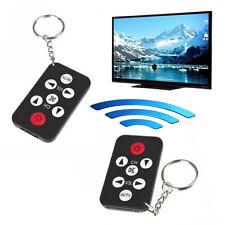 Mini Universel Infra-rouge IR TV Set Télécommande Porte-clés 7 Touches Noir Mode