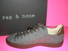RAG & BONE MEN'S GREY WOOL WITH BROWN LEATHER SNEAKERS SHOES US 9 NEW IN BOX