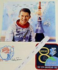 Rare (3) Pc. Lot -Wally Walter Schirra Signed Original Mercury 7 Astronaut+