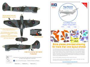 TopNotch Hawker Tempest V  camouflage scheme vinyl mask set