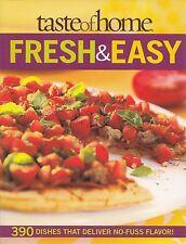 FRESH & EASY TASTE OF HOME COOKBOOK 390 GARDEN-FRESH RECIPES GREEK SPINACH PIZZA