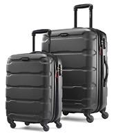 "Samsonite Omni Hardside 2 Piece Nested Spinner Luggage Set 20, 24"" Black NEW"