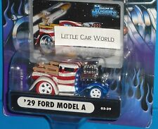 2003 MUSCLE MACHINES '29 Ford Model A Pickup Truck #03-39 Chase Red & Blue tires
