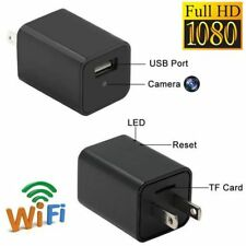 WiFi HD 1080P Spy Camera Hidden USB AC Adapter Wall Charger Motion Detection