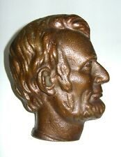Vintage Solid Copper President Abraham Lincoln Bust Head Wall Picture Plaque