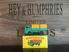 matchbox Regular Wheels no.1E-2.Rare Yellow Version mint OVP E-3 excellent 1968