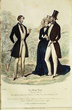GRAVURE de MODE ANCIENNE-601-1842-LE BON TON