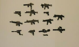Lot of 13 Custom Gun SMG Weapons Pack For Lego Minifigures