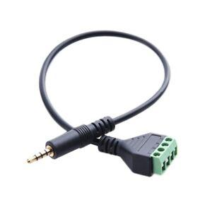 3,5-Mm-Schraubklemmenadapter-Lautsprecherkabel 4-Adriges Stereo-TRRS-Stecke T2F3