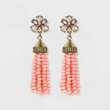 Light Pink Earrings Nwt Sugarfix by BaubleBar Beaded Tassel