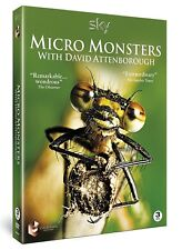 MICRO MONSTERS (2013) with David Attenborough COMPLETE BBC TV Series  NEW DVD UK