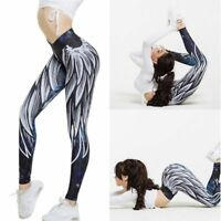 1x Women YOGA Fitness Gym Sports Leggings Running Pants Stretch Workout Trousers