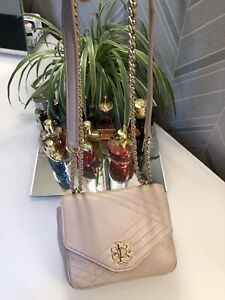 Tory Burch Small Pink Crossbody Shoulder Turnlock Bag
