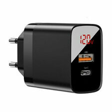 Baseus 18W USB Type-C PD Wall Charger Fast Charging Adapter For iPhone Huawei