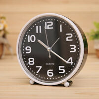 5 Inch Portable Silent Alarm Clock Battery Quartz Movement Night Light 02