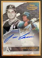 2020 Topps Gold Label JOSE CANSECO Autograph Black SP /75 Oakland Athletics