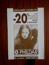 PHILDAR LANDEMORE SAINT LO  publicité carte postale advert postcard