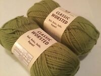 2 SKEINS UNIVERSAL YARN LINDEN GREEN  3.5 OZ / 197 YDS EA WOOL ACRYLIC BLEND