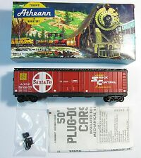 ATHEARN 1344 HO SCALE 50' Box Car Santa Fe w/Horn Hook Couplers