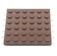 Lego Part 4217848 1 X 3958 Plate 6x6 Replacement Brick Reddish Brown