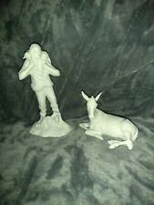 Boehm Porcelain Nativity The First Noel Sculptures The Shepard & Donkey