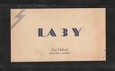 1947 LA3Y QSL CARD AALESUND NORWAY USED