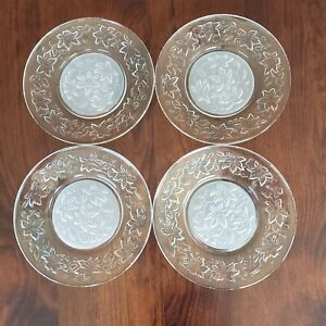 """Lot of 4 Princess Fantasia House Luncheon/Salad Plates 8"""" Frosted Center"""