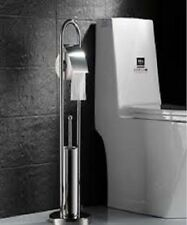 Sabichi Stainless Steel Free Standing Toilet Brush Paper Roll Holder 99709