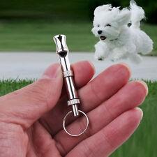 Mini Edelstahl Keychain Schall Ultraschall Hundepfeife  Einstellbare Gift Gift