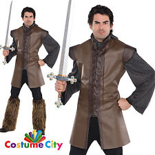 Adult Mens Medieval Sleeveless Warrior Tunic Fancy Dress Party Costume Accessory
