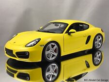 Minichamps 2013 Porsche Cayman S (981c) Yellow Diecast Model Car 1:18