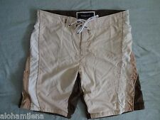 Men's Brown Beige Boarding Swimming Shorts, Size XL, Pacific&Co. Miami
