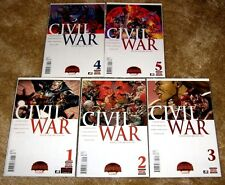 MARVEL CIVIL WAR 1, 2, 3, 4, 5  NM-MT VERY HIGH GRADE FREE BAGGED & BOARDED