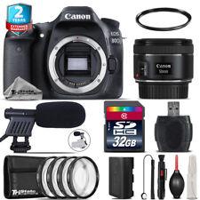 Canon EOS 80D DSLR + 50mm f/1.8 IS STM + Shoutgun Mic + 4PC Macro Kit - 32GB