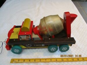 Vintage Fisher Price Cement Mixer Pull Toy-Very Rare