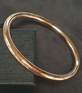 Classic 65mm 18k Rose Gold Filled Golf Slave Bangle 42 grams 6mm Nellie Stewart