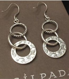 Retired SILPADA Oxidized Triple Threat Dangle Earrings W1616 Sterling Silver 925