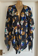 Atmosphere Waterfall Floral Cardigan NWOT Cover-ups/Office/Work/Holiday/Party 12