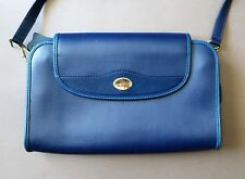 Bonia 27.5 x 19cm Blue Leather Women's Handbag