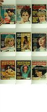 Motion Picture Magazine -Lot of 9 -1963 Back Issues Feat. Marilyn Monroe & Elvis