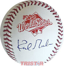 KIRK GIBSON AUTOGRAPHED OFFICIAL 1988 WORLD SERIES BASEBALL TRISTAR - DODGERS