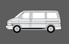 Volkswagen VW Transporter caravelle T4. Side stripe Decal Stickers Set. beats